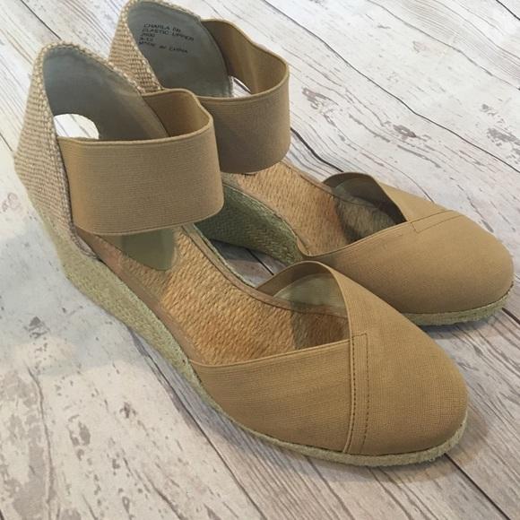 cccac989ae2 Lauren Ralph Lauren Shoes - LAUREN RALPH LAUREN Tan Charla Wedge Espadrille